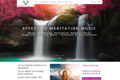 Webdesign Projekt Meditation-Music.com